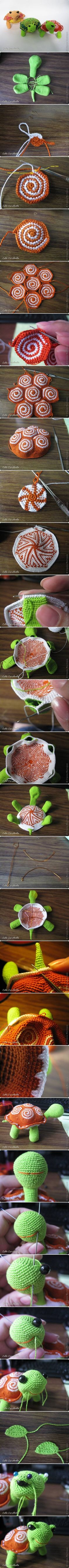DIY Little Crochet Turtle