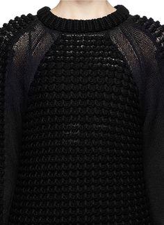 HELMUT LANG - Pompom knit pullover | Black Sweater Knitwear | Womenswear | Lane Crawford