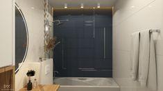Projekty - EKK Pracownia Projektowa Łazienka w bloku Bathroom Lighting, Bathtub, Mirror, Furniture, Home Decor, Bathroom Light Fittings, Standing Bath, Bathroom Vanity Lighting, Bathtubs