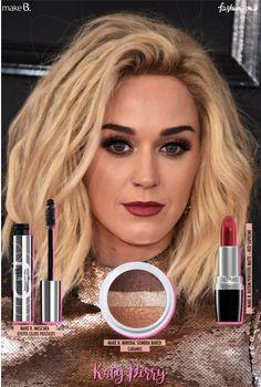 Saiba quais os produtos usar para fazer a maquiagem de Katy Perry no Grammy! Representando a boca colorida