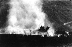 IJN Hiryu ablaze after the battle of Midway, June 1942 | by umbry101