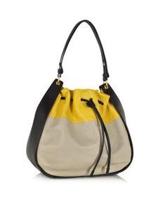 965ed5e5f519 Sonia Rykiel Gautier Color Block Leather Hobo Bag - Lyst