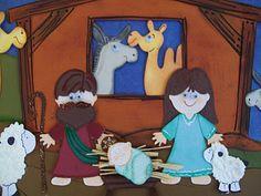 She's a Sassy Lady: Nativity Scene with Cricut Paper Doll Dress Up Cartridge