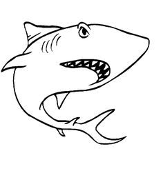 Shark Coloring Pages 12