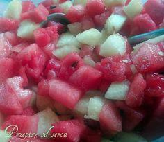 Water melon salad / Przepisy od serca: Sałatka z arbuza i melona
