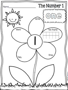 Math FREEBIE - Spring Themed: write/color/draw the different ways to show a number