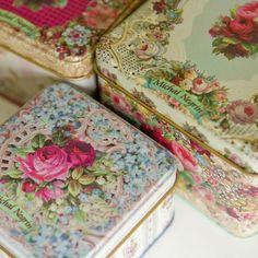Beautiful Vintage storage tins