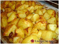 Cookbook Recipes, Cooking Recipes, Low Sodium Recipes, Greek Dishes, Potato Dishes, Roasted Potatoes, Greek Recipes, Tasty Dishes, Soul Food