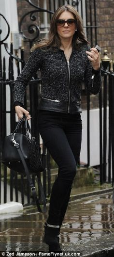 February 06, 2014: February 06, 2014  Elizabeth Hurley out and about in London. Liz Hurley has categorically denied the claim that claimed s...