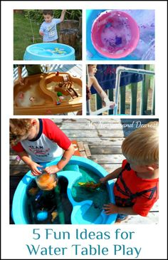 Five super fun water table ideas to try. I love these! Perfect for the kids this summer!