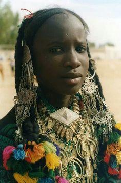 Tuareg girl in traditional dress, Ghadames, Libya ~Via Inke Pink