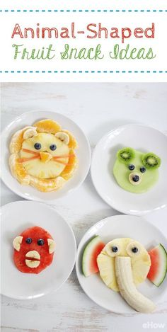 The kids are going to go crazy for these adorable animal shaped fruit snacks! This is one way to get them to eat all their fruits (and veggies, if you want to try sneaking some in there). That watermelon monkey and pineapple banana elephant are SO cute!