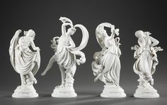 FOUR BISCUITS DANCERS WITH VEILS, RICHARD ECKERT MANUFACTORY 1900
