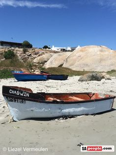 Patrenoster, Western Cape. Dinghy Boat, Christopher Robin, Wood Boats, Landscape Photos, West Coast, Cottages, Lighthouse, South Africa, Beach House