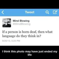 Whatever language they read in? Are your thoughts really in sound, or is that just how you process them?