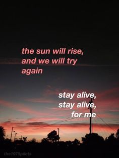 if you feel suicidal i think you should listen to the song 'truce' by twenty one pilots. Twenty One Pilots Frases, Song Lyric Quotes, Music Quotes, Lyric Quotes Tumblr, Top Lyrics, Music Lyrics, Art Music, Wallpaper Quotes, Feelings