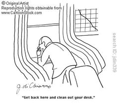 Clean Desk funny cartoons from CartoonStock directory - the world's largest on-line collection of cartoons and comics. Clean Desk, Funny Cartoons, Clothes Hanger, Cleaning, Comics, Artist, Quotes, Clear Desk, Coat Hanger