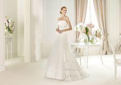 Pronovias te presenta el vestido de novia Gomera, Costura 2013.   Pronovias