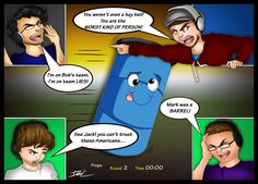 "Markiplier, Jacksepticeye, Yamimash, and Bob- Prop hunt fun by ImotepNicholas.""see jack you cant truts this americans"".xD good one Yami Markiplier, Pewdiepie, Jacksepticeye Memes, Cryaotic, Jack And Mark, Youtube Gamer, Septiplier, Best Youtubers, Like A Boss"