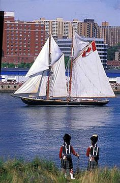 Bluenose arrives in Yarmouth, Nova Scotia, Canada ~ Yarmouth Nova Scotia, Atlantic Canada, Canada Eh, Largest Countries, Prince, New Brunswick, Quebec City, Tall Ships, Water Crafts