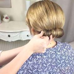 Loving this bun tutorial using a foam shaper by @sweethearts_hair_design