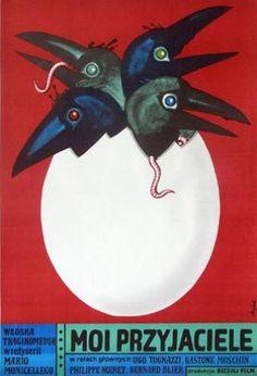 Poster Plakat Jerzy Flisak moi przyjaciele