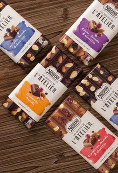 Nestlé brings an artisan chocolate experience to supermarkets with Nestle Chocolate, Artisan Chocolate, Chocolate Brands, Organic Chocolate, Organic Packaging, Food Packaging Design, Coffee Packaging, Bottle Packaging, Branding Design