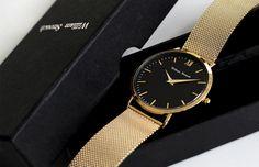 William Strouch Gold Chain Metal Watch