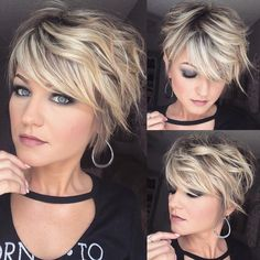 Short Hairstyles For Women - Blonde Haircut - Pixie Haircut - Latest Hairstyles - www. - - Short Hairstyles For Women – Blonde Haircut – Pixie Haircut – Latest Hairstyles – www. Bob Haircuts For Women, Round Face Haircuts, Short Pixie Haircuts, Short Hairstyles For Women, Bob Hairstyles, Latest Hairstyles, Curly Pixie, Haircut Short, Shaggy Pixie Cuts