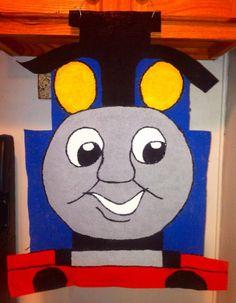 Burlap+Thomas+The+Train+door/wall+hanger+by+NikkiDsCreations,+$25.00