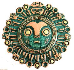 Copper mask, 'Sun God Temple' The Spanish conquistador Diego de Trujillo wrote… Aztec Mask, Mayan Tattoos, Thailand Art, Indigenous Art, Art Themes, Ancient Jewelry, Dope Art, Mexican Art, Ancient Artifacts