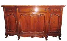 french-side-cabinet-antique-walnut Antique furniture, French,