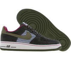 Nike Womens Nike Air Force 1 Low Premium (aluminum   army olive   dk  charcoal) 0a371469b4