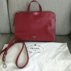 bdf5ce96f4a078 Prada Laptop Messenger Saffiano Leather Laptop Bag. Carry your laptop in  style! The Prada. Tradesy