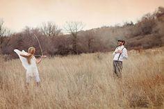 Charming Cupid Inspired Engagement Shoot - Mon Cheri Bridals