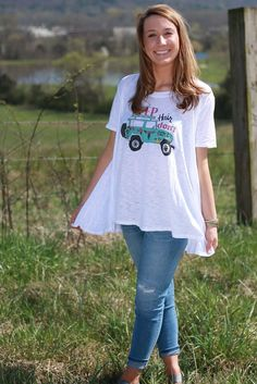 5f1f5d9686fa4 Judith March Jeep Hair Don t Care Top