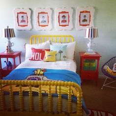 We All Want To Live in This Yellow Submarine Kids Bedroom featuring Land of Nod furniture