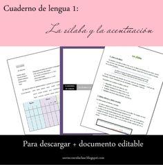 Cuaderno de lengua: la sílaba y la acentuación from Un Rincón en la Clase on TeachersNotebook.com -  (19 pages)  - Estudio de la sílaba y la acentuación