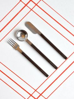 Cutlery design for Airfrance by Raymond Loewy 1978