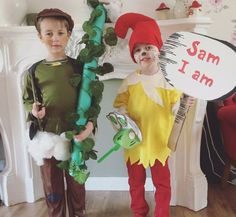 Archie and his brother Ellwood dressed up for World Book Day. Archie is Jack and the Beanstalk and Ellwood is Sam I am