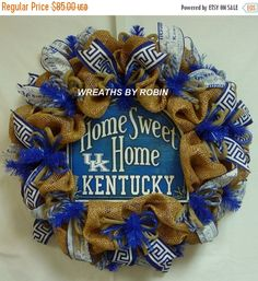 SUMMER SALE  Kentucky Home Sweet Home Sports by wreathsbyrobin
