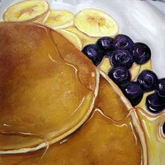Pancakes with Blueberries and Bananas by Vic Vicini