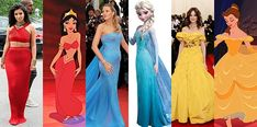 Kim Kardashian como Jasmine, Blake Lively como Elsa, Katie Holmes como Bela (Foto: Getty Images)