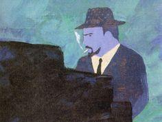 Thelonious Monk in un disegno di Wada Makoto