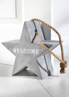 "Fermaporta ""Welcome"", bpc living, Grigio / bianco"