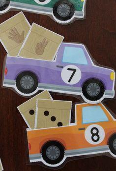 Interactive transportation math activities for preschool, pre-k, kindergarten