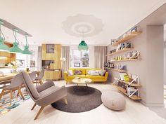 Zarysy Jan Sekuła - Pracownia Architektury, Wnętrz i Designu - Back To The Future Back To The Future, Corner Desk, Interior, House, Furniture, Behance, Design, Home Decor, Feels