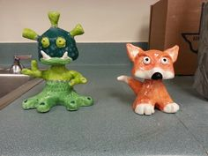 2nd grade Clay bobble heads- project #2 Hand building techniques (find original lesson)