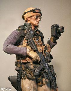 Military Guns, Military Art, Airsoft, Gi Joe 1, Military Action Figures, Future Soldier, War Photography, Military Diorama, Figure Model