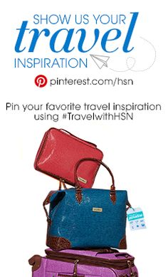 Win fabulous travel gear, a $500 HSN gift card, & other travel items from your favorite brands! Simply create a board titled #TravelwithHSN on Pinterest & start pinning your favorite travel products, tips, trends & inspiration. Make sure you include #TravelwithHSN in the description of every pin! The contest ends 5/11 & the winner will be announced on Facebook 5/13 at 9AM ET. Click on the image for official #contest rules. Happy pinning!